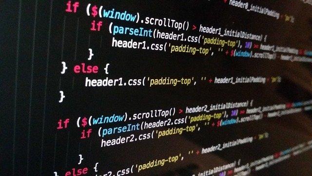 プログラミングのソースコード画面